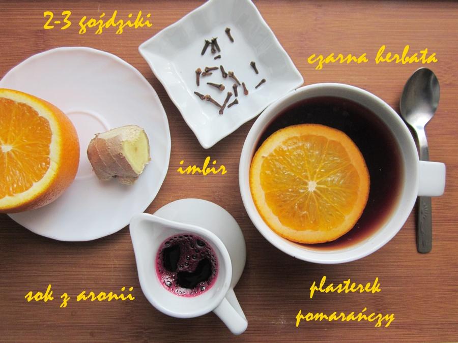 Przepis napyszną herbatę zpomarańczą, imbirem igoździkami
