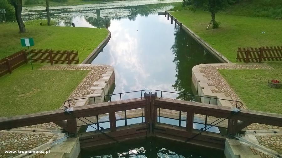 śluza Mikaszówka Kanał Augustowski spływ kajakowy Czarna Hańcza