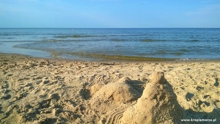 Plaża nadmorzem wKrynicy Morskiej