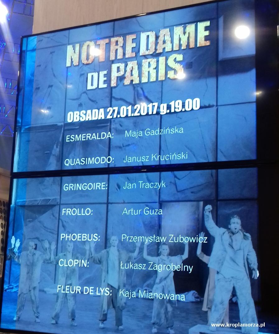 musical Notre Dame de Paris - Teatr Muzyczny wGdyni - kropla morza