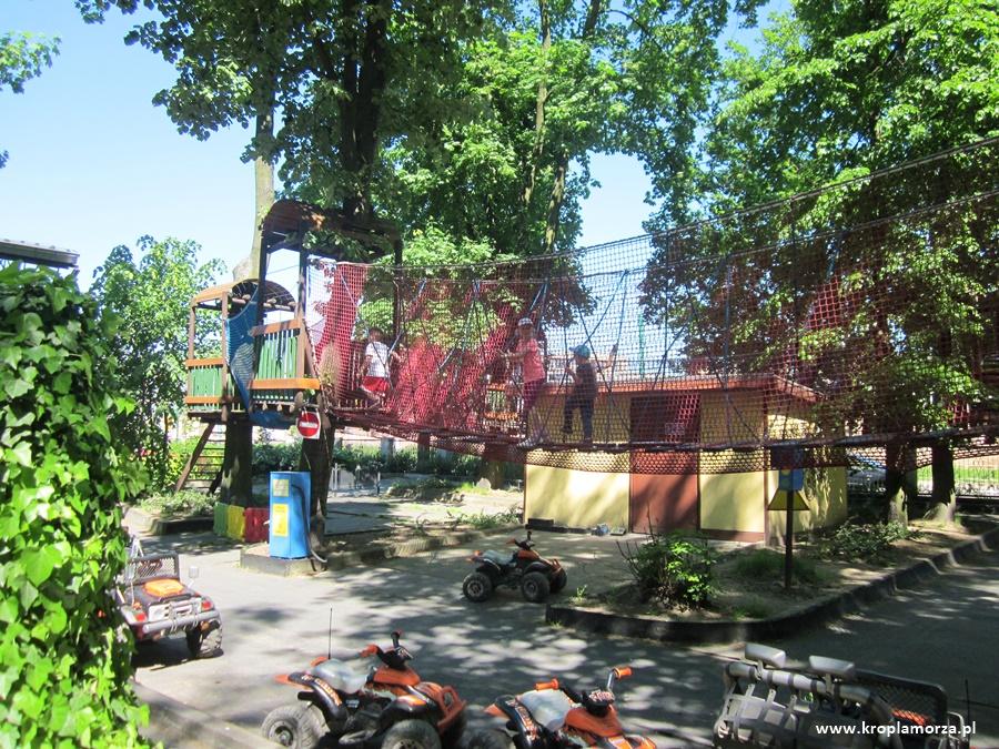 Park linowy wStarym zoo wPoznaniu