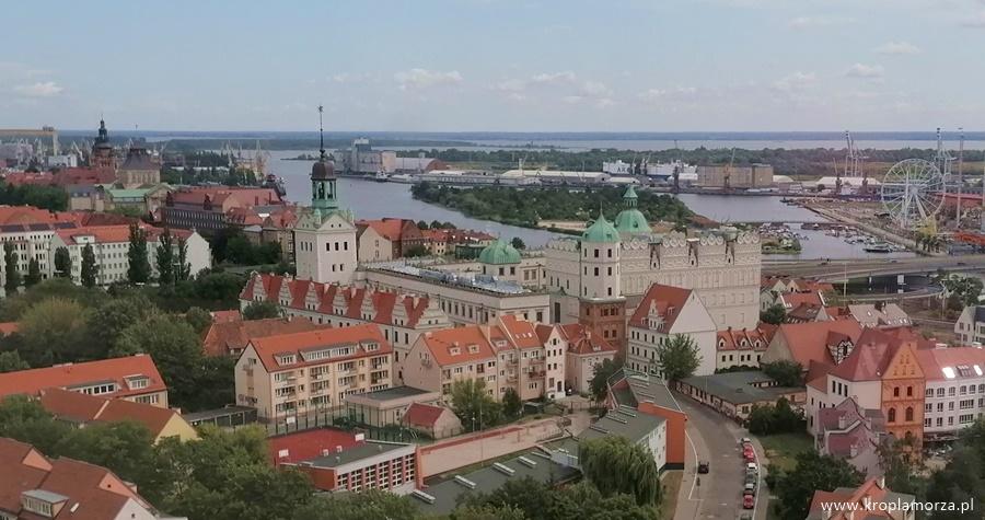 Zamek Książąt Pomorskich - widok zwieży widokowej